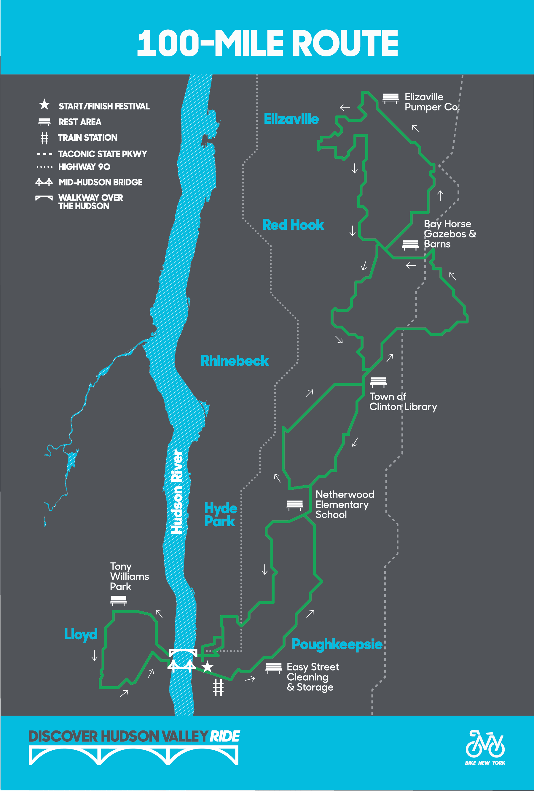 Bike New York Map.Discover Hudson Valley Ride Route Maps Bike New York